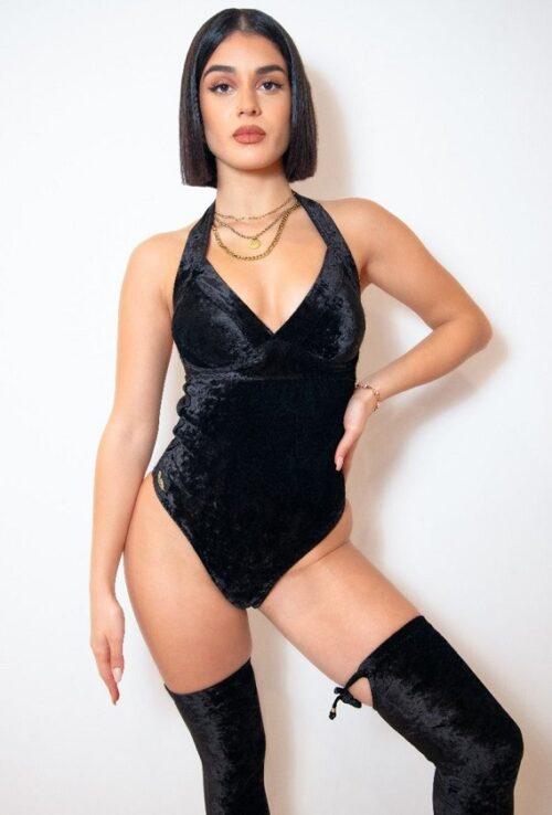 Elizabeth cheeky black Bodysuit 1